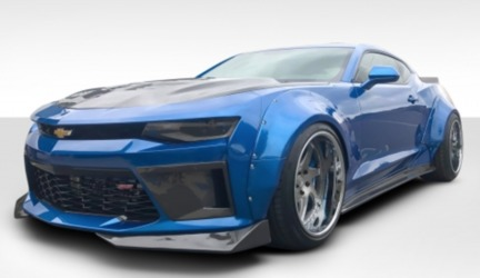 Chevrolet Camaro Duraflex Grid Wide Body Kit - 4 Piece