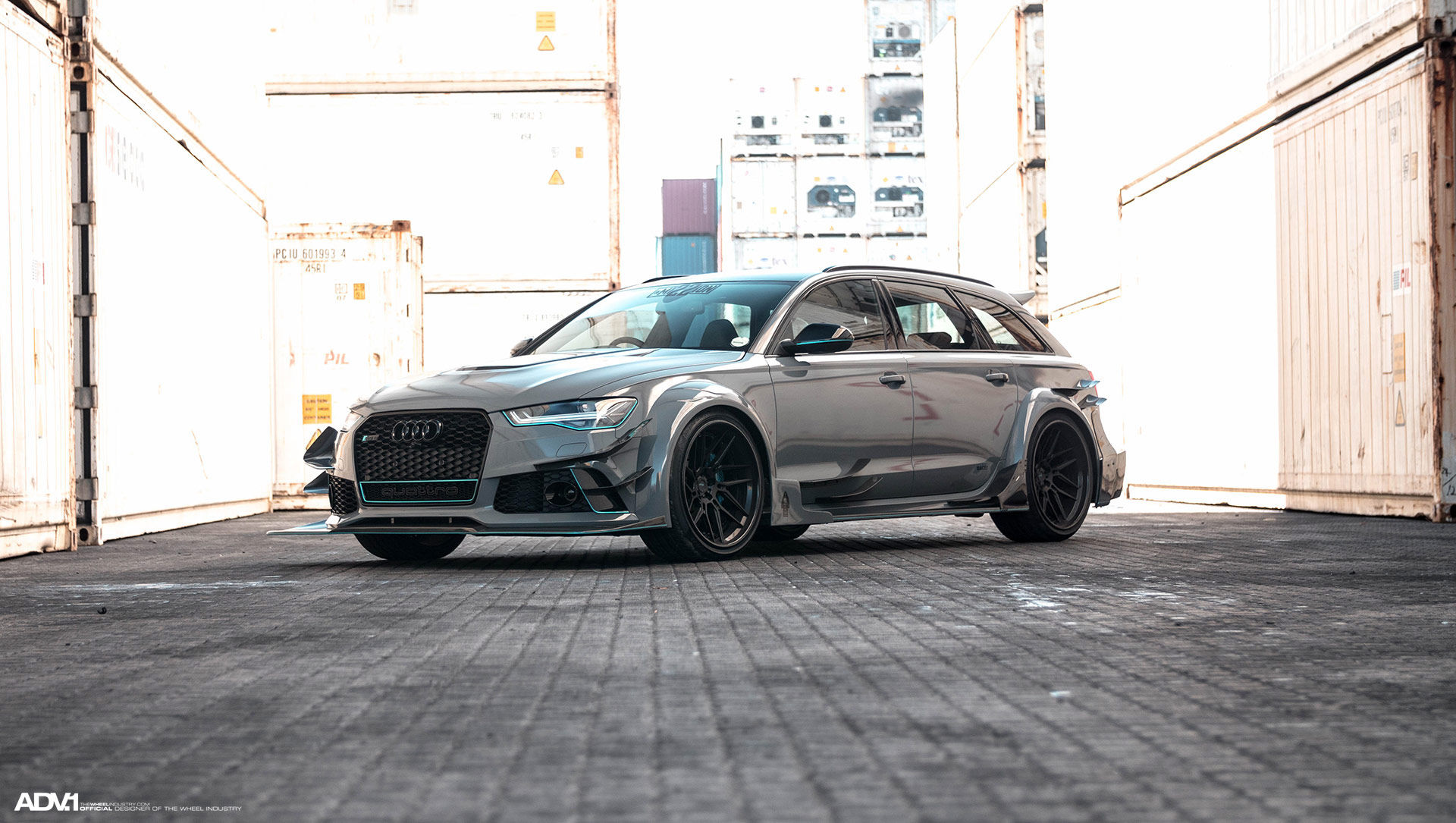 Audi RS 6 | Nardo Gray Carbon Fiber Widebody Audi RS6 Avant - ADV.1 Wheels ADV7R Track Spec CS