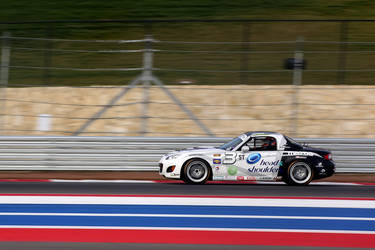 Mazda Miata making strides on the COTA track, well equipped with Continental Tires