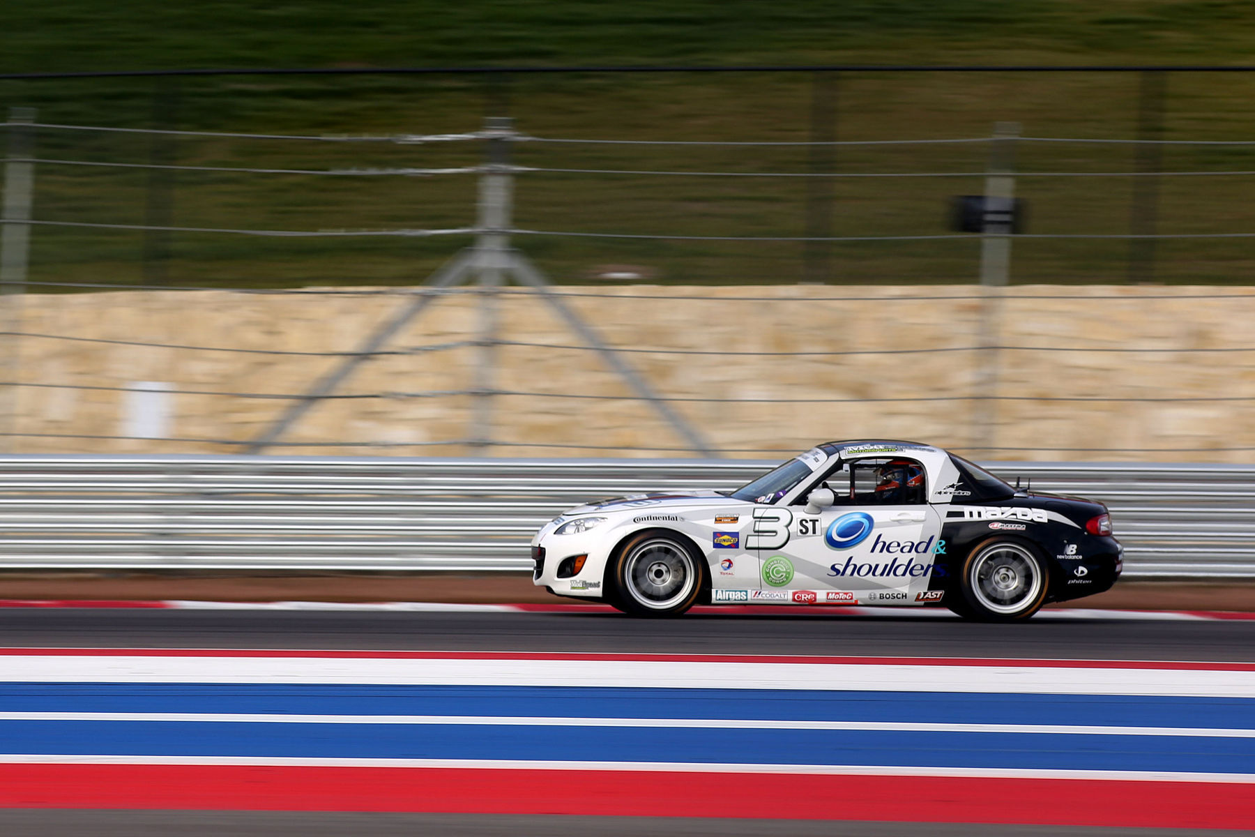 | Mazda Miata making strides on the COTA track, well equipped with Continental Tires