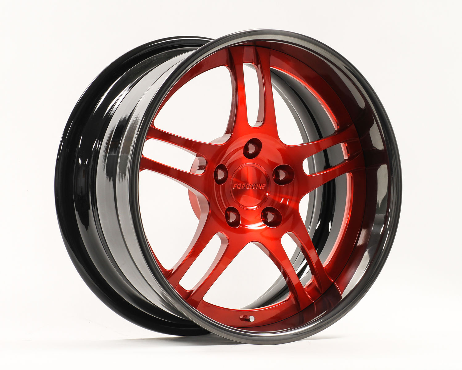 | Forgeline DS3P in Transparent Red, Gloss Black, & Black Pearl