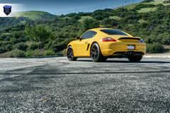Yellow Porsche Boxster - Rear Shot