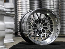 Forgeline Heritage Series TA3 Wheel Finished with Pearl Gray/HTM Center and Polished Outer
