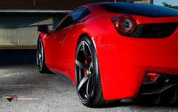 458 on Vorsteiner wheels