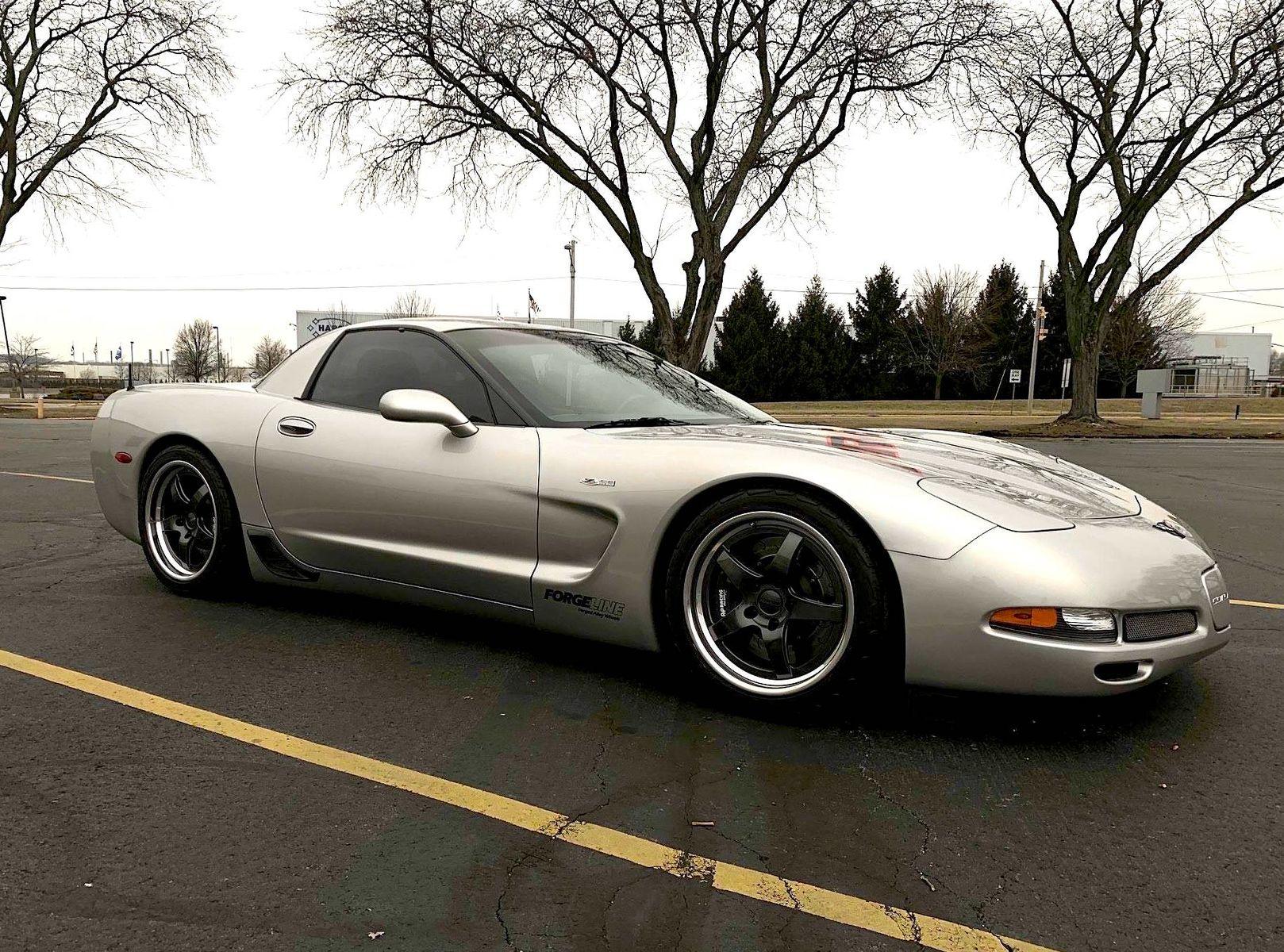 2004 Chevrolet Corvette Z06   Dave Schardt's 487whp C5 Corvette Z06 on Forgeline GF3 Wheels