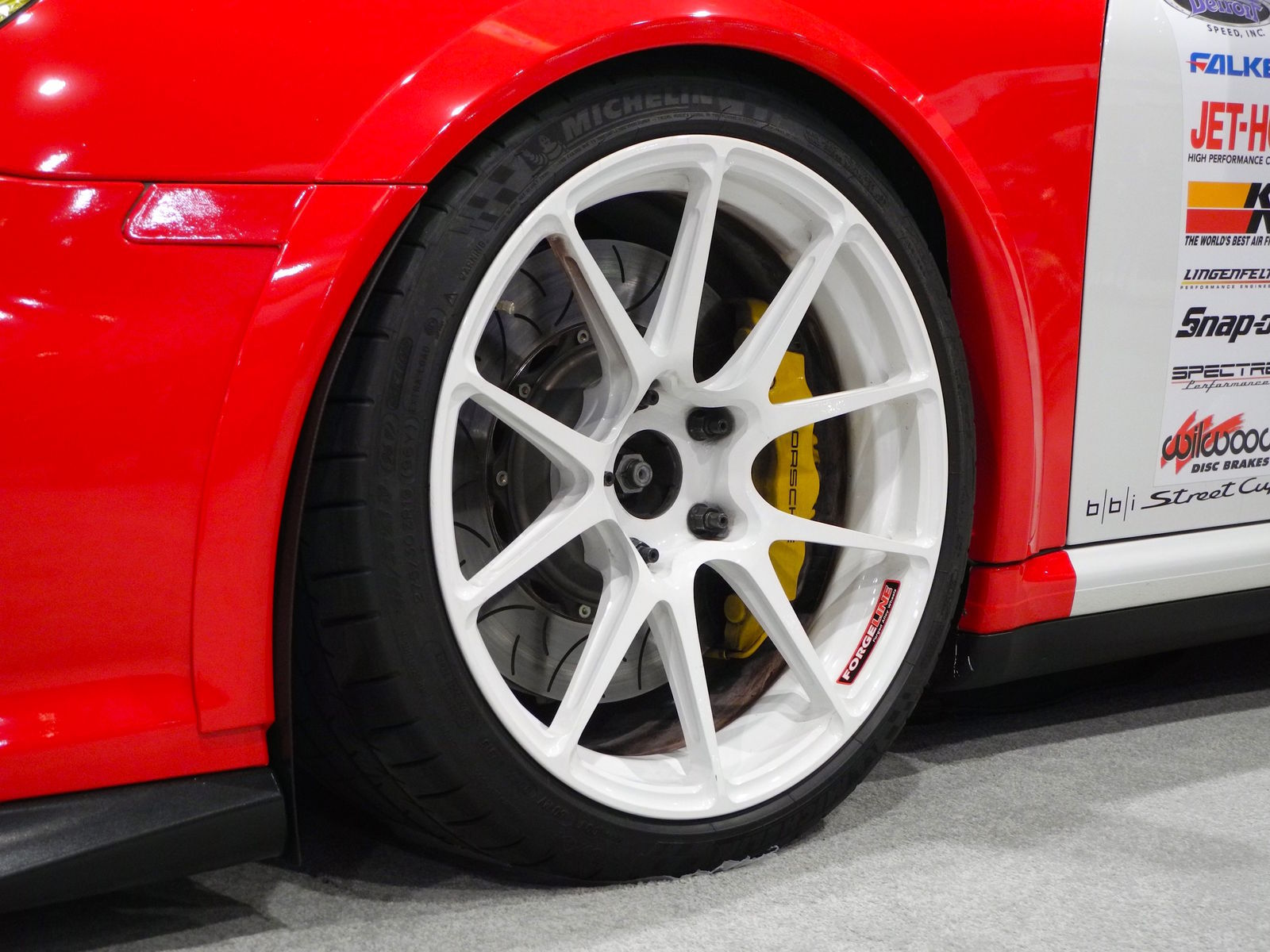 2008 Porsche 911 | BBi Autosport's 997.1 Porsche 911 Turbo on Forgeline 1pc Forged Monoblock GA1R Open Lug Wheels