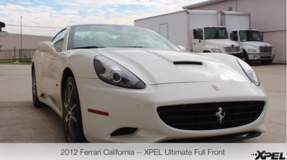 2012 Ferrari California with XPEL ULTIMATE clear bra