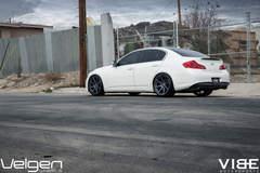 "2009 Infiniti G37 on 20"" Velgen Wheels - Side Shot"