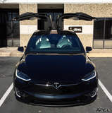 Tesla Model X at XPEL Austin for XPEL ULTIMATE clear bra