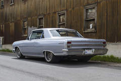 "RaceDeck Garage Flooring's ""Maliboost"" Twin Turbo 1964 Chevy Malibu on Forgeline DE3P Wheels"