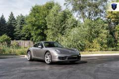 Charcoal Porsche 911 Carrera - Front Angled Shot