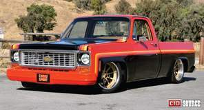 "Mikey Maysmith's ""Cannonball"" 1974 Chevy C10 on Forgeline RB3C Wheels"