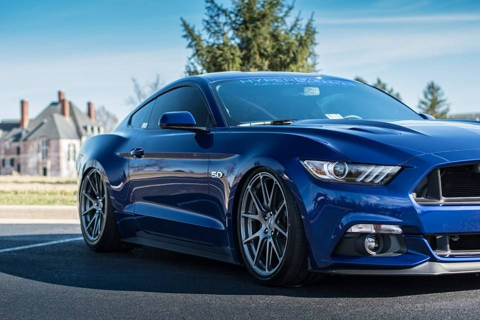 2015 Ford Mustang | Derek Ninowski's Bagged 2015 S550 Ford Mustang GT on Forgeline One Piece Forged Monoblock GA1R Wheels