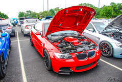 Beautiful red BMW at Cars and Coffee San Antonio