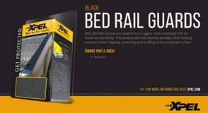 XPEL Bed Rail Guard Black - DIY