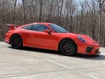 Alan Coleman's Lava Orange Porsche 991 GT3 on Forgeline One Piece Forged Monoblock ZH1 Wheels