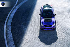 Matte Purple Cadillac CTS-V - Top View
