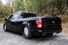 2016 Ford F-150 4x2 XLT SuperCrew by Hulst Customs - Rear shot in the fall