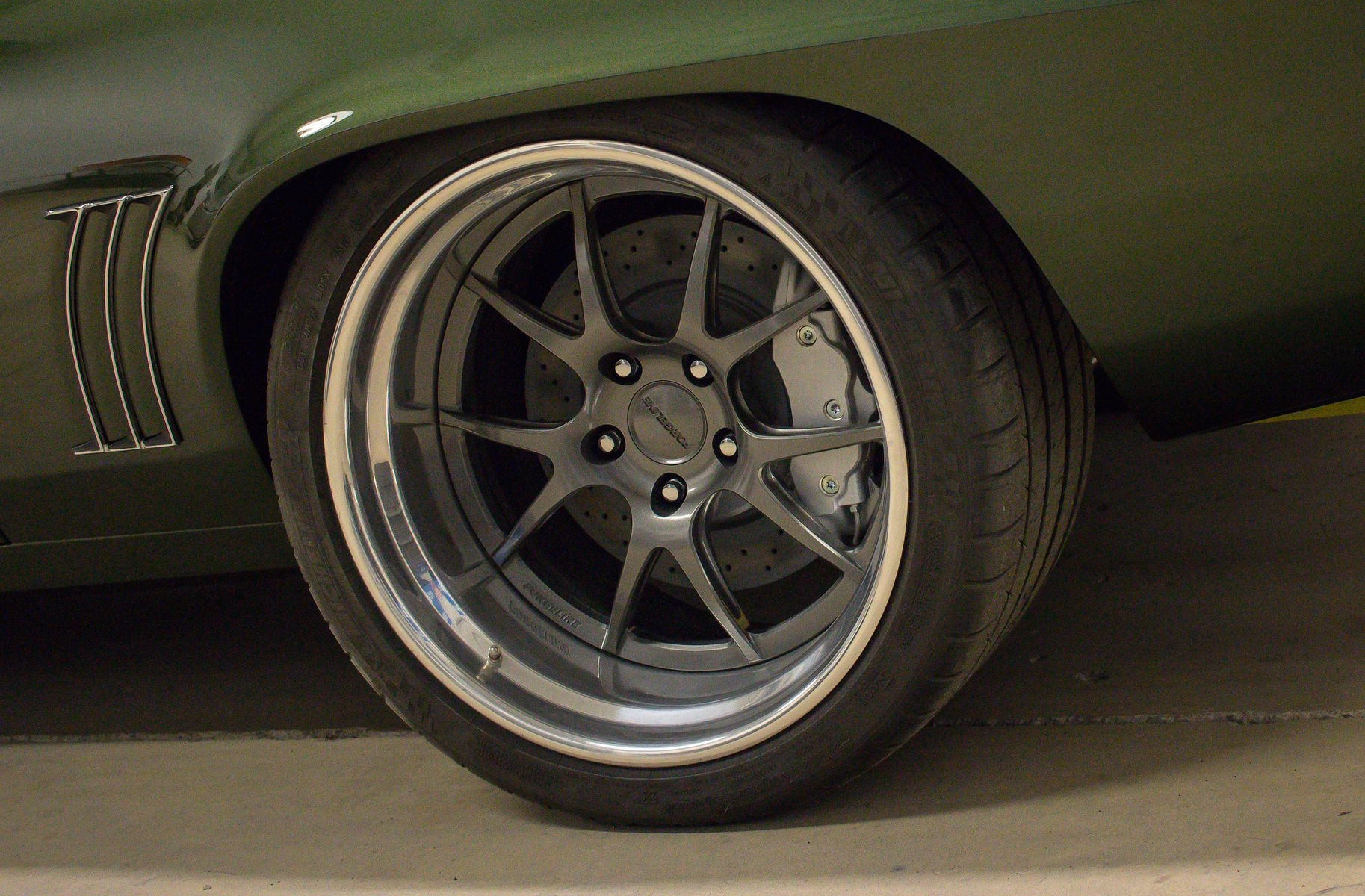 1969 Chevrolet Camaro | Chris Kinker's Fathom Green '69 Camaro on Forgeline GA3 Wheels