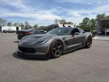 C7 Z06 on Forgeline CF1 Open Lug Wheels - Front Angled Shot