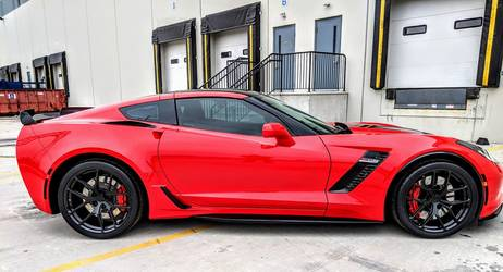 2018 Chevrolet Corvette Z06 | Red C7 Corvette Z06 on Forgeline One Piece Forged Monoblock VX1R Wheels from CW4L