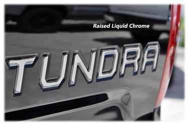 Tundra Tailgate Inserts - Chrome