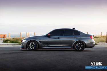 "2016 BMW M3 | BMW M3 on 20"" XO Luxury Wheels - Stance Shot"