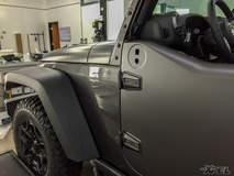 We wrapped this Jeep with XPEL STEALTH satin-finish clear bra - Paint Protection