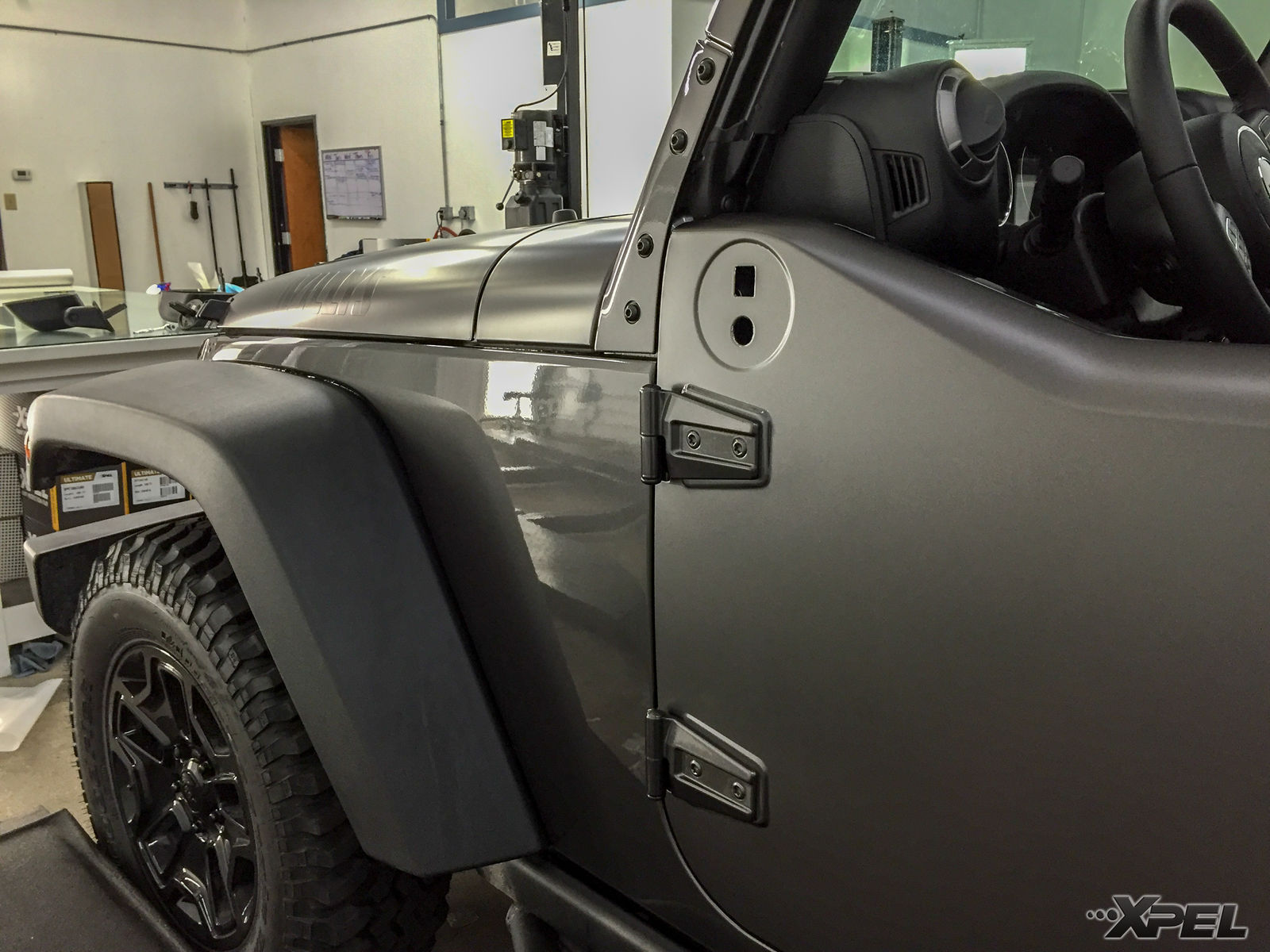2016 Jeep Wrangler | We wrapped this Jeep with XPEL STEALTH satin-finish clear bra - Paint Protection