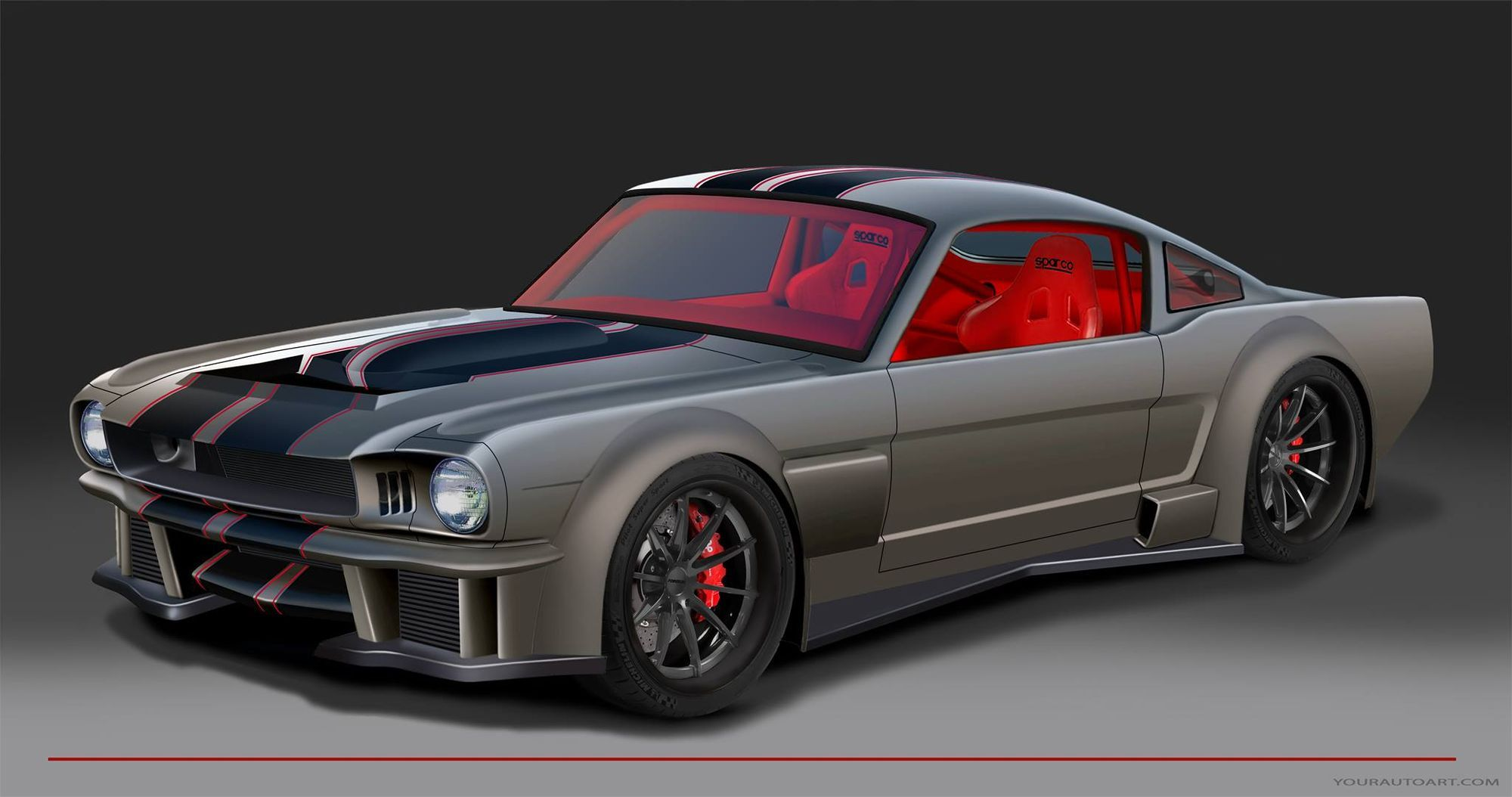 2016 sema show preview the timeless kustoms vicious 65 ford mustang on forgeline gt3c wheels