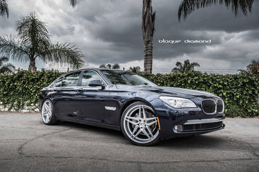 2012 BMW 7 Series | 2015 BMW 740i Fitted With 20 Inch BD-8's in Silver With Polished Face