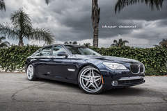2015 BMW 740i Fitted With 20 Inch BD-8's in Silver With Polished Face