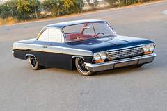"""James and Sandy Eudy's '62 Bel Air """"Bubble Top"""" on Forgeline ZX3P Wheels"""