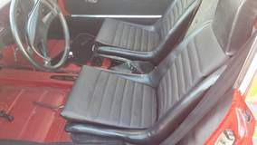 Seats will be recovered in gray tartan
