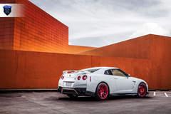 White Nissan GTR - Side Angled Shot