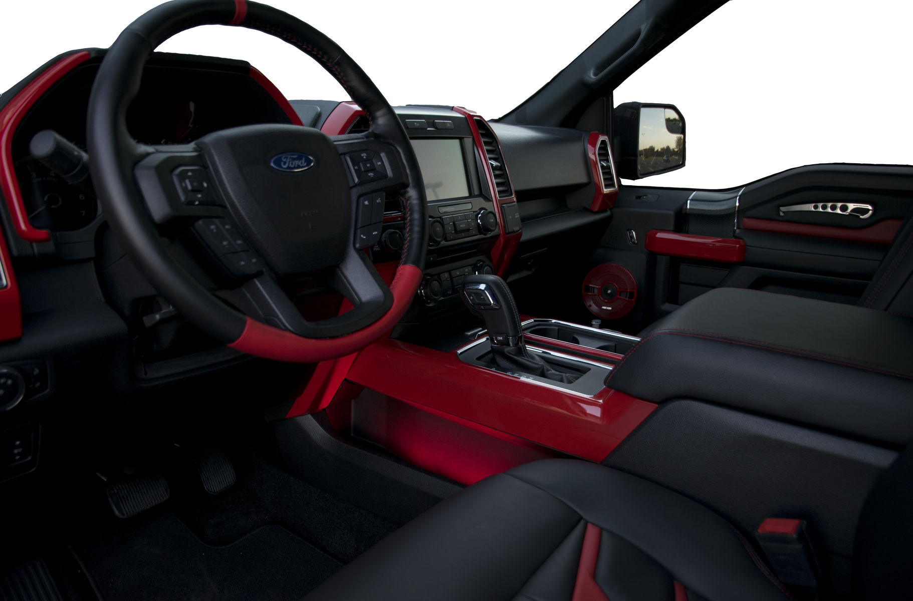 2018 Ford F 150 4x4 Xlt Supercrew By A R E Accessories Interior Shot Fordsema
