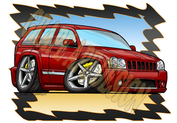2009 Jeep Grand Cherokee | Jeep Grand Cherokee SRT8 art design