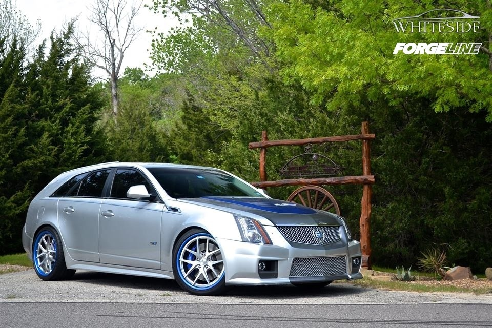2014 Cadillac CTS-V Wagon | Whiteside Customs Cadillac CTS-V Wagon V800 on Forgeline VX3C Wheels