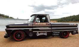 Fast N Loud's 1965 Chevy C-10 Pikes Peak Pace Truck on Center Locking Forgeline ZX3P Wheels and Flush Loc Conversion Kit