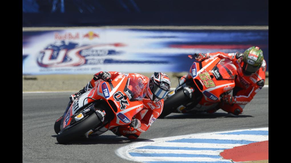 2013 Ducati    2013 MotoGP - Laguna Seca - Hayden and Dovi