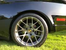 Wheel Enhancement Fit This Porsche 944 Turbo on Forgeline One Piece Forged Monoblock SE1 Wheels