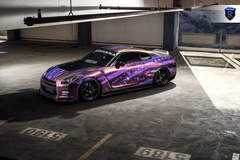 Wrapped Nissan GTR - Top View