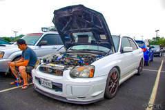 Subaru WRX STI at Cars and Coffee San Antonio