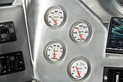 RCH Designs Custom Built Hummer H1 - Interior Auto Meter Gauges