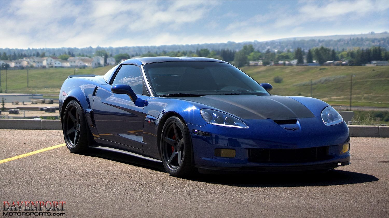 2013 Chevrolet Corvette Z06 | 660+HP All-Motor Davenport Motorsports C6 Corvette Z06 on Forgeline CF3C Concave Wheels