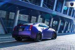 Matte Purple Cadillac CTS-V - Rear