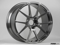 Forgeline One Piece Forged Monoblock GA1R Open Lug Wheel in Transparent Smoke