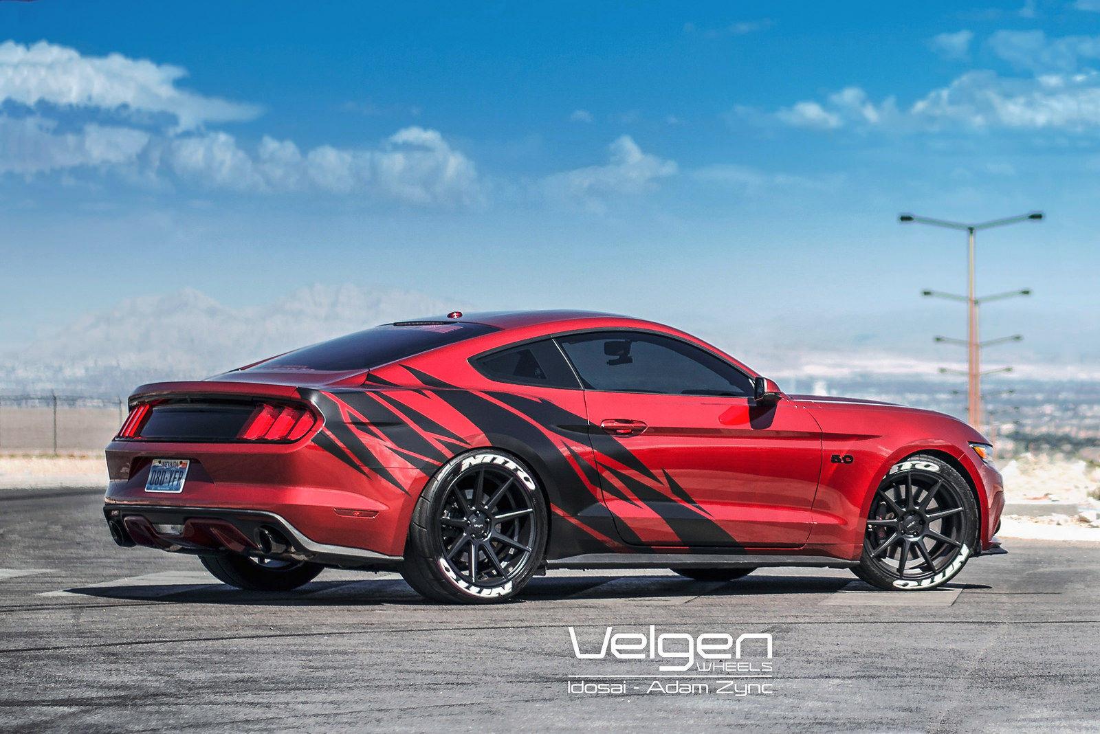 2015 Ford Mustang | 2015 Mustang Ruby Red on Velgen Wheels VMB9