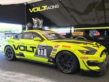 VOLT Racing Mustang and Blackdog Speed Shop Camaro Dominate Pirelli World Challenge GTS-X Podium at VIR