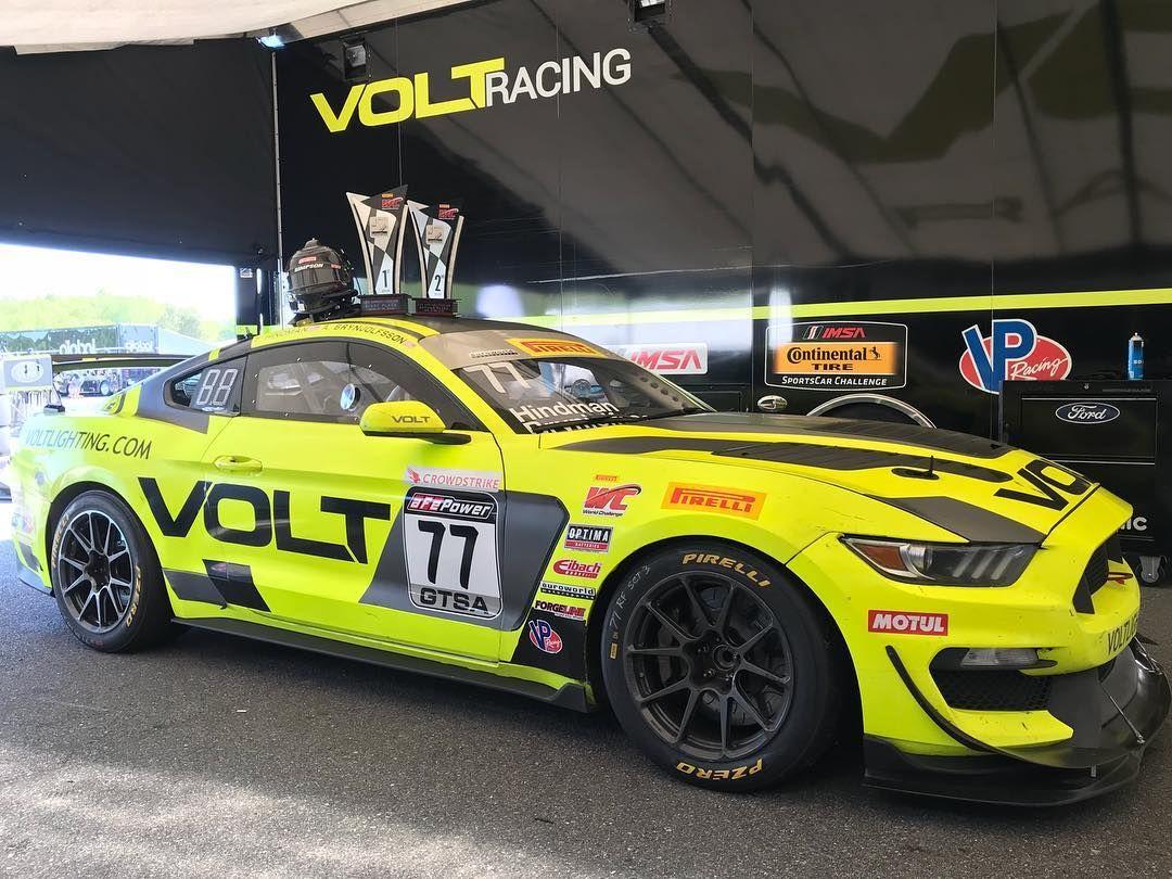 2018 Ford Mustang | VOLT Racing Mustang and Blackdog Speed Shop Camaro Dominate Pirelli World Challenge GTS-X Podium at VIR